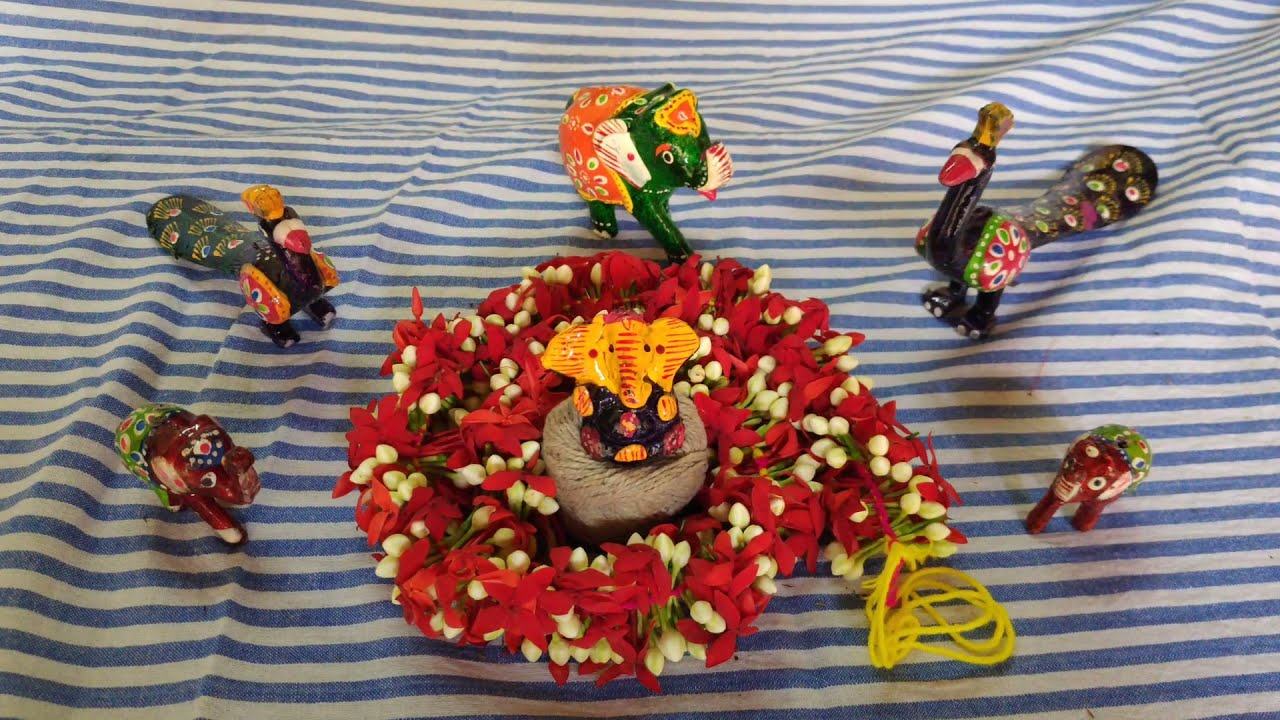 Download How to make a mutlicolour floral Garland for Ganesh chathurthi in a simple way.