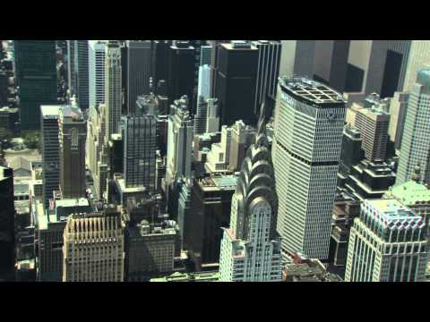 Manhattan and Chrysler Building Aerial View Video HD Helicopter Tour of New York City NYC Big Apple