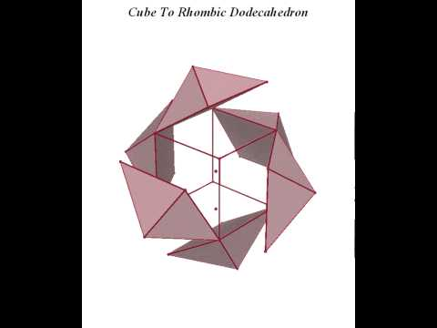 Cube To Rhombic Dodecahedron