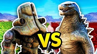 DOES THE ANT  GODZ LLA MACH NE WORK Ultimate Epic Battle Simulator  UEBS Funny Gameplay