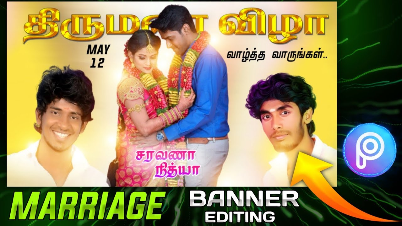 How to Edit Marriage Banner Design in Mobile | Marriage Poster Editing In PicsArt | Flex Editing