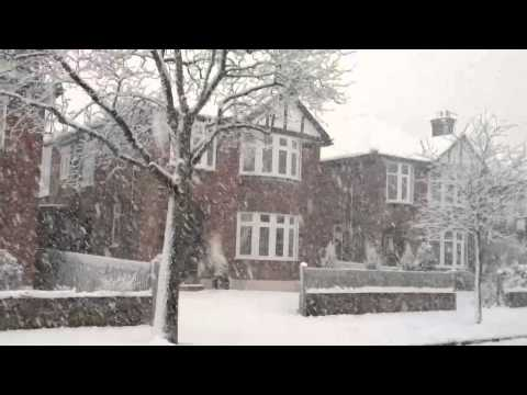 "Our ""Winter Wonderland"" - Snow Falls In Norwich, UK"