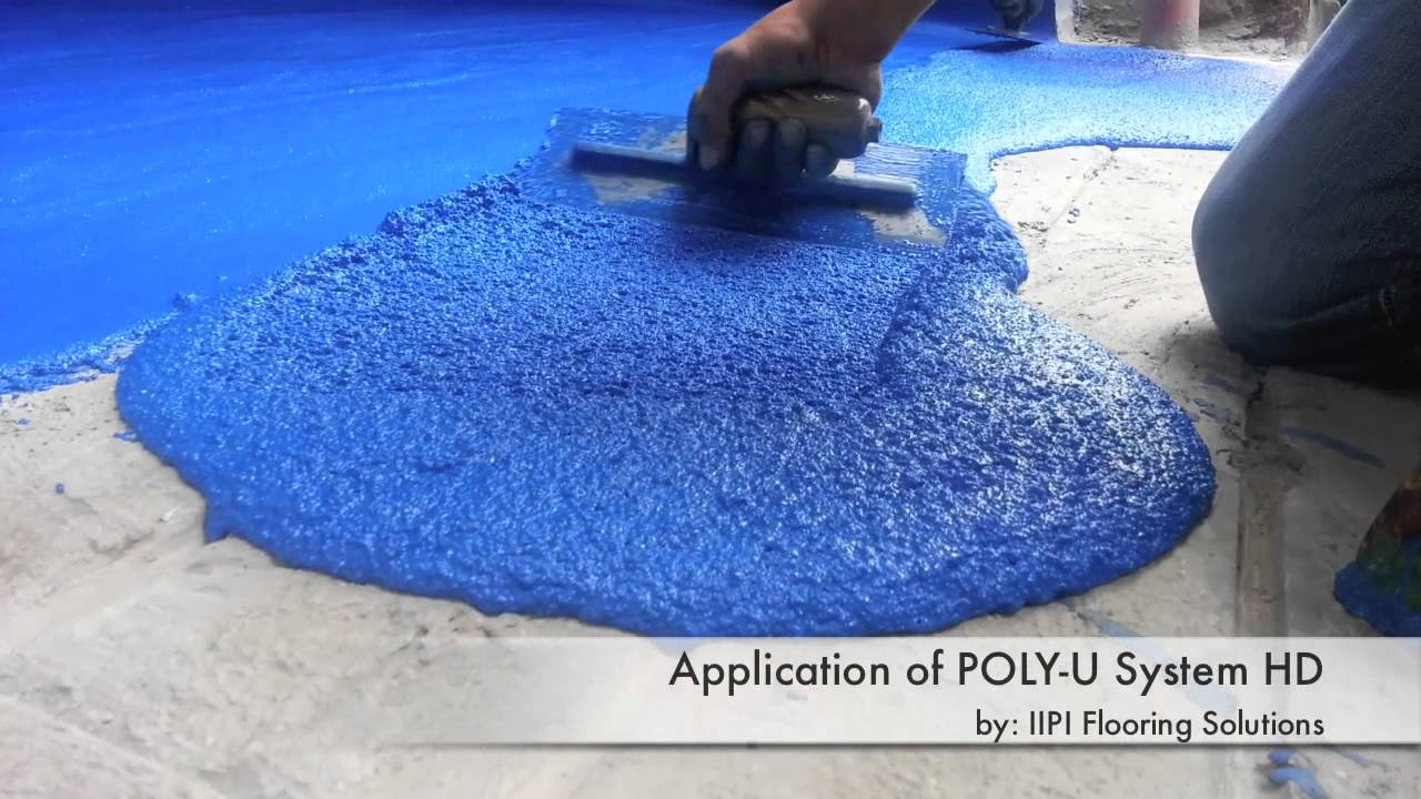 Good IIPI Flooring Solutions : POLY U SYSTEM (Polyurethane / PU Flooring)    YouTube