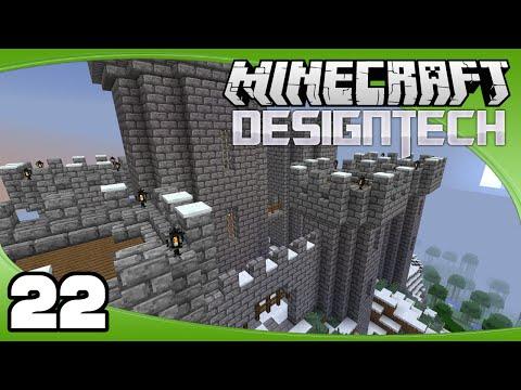 DesignTech - Ep. 22: Tower Details   Minecraft Custom Modpack Let's Play