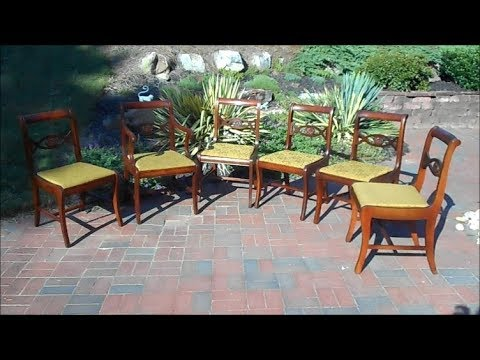 A Quick Restoration of a Set of 6 Vintage Dining Chairs