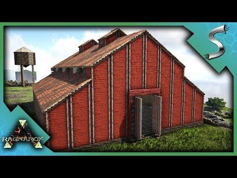 THE BIG RED BARN BUILD! - Ark: RAGNAROK [DLC Gameplay S3E42]