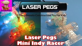 Laser Pegs 8 In 1 Mini Indy Racer Construction Kit | Toy Opening Video