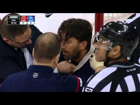 Gotta See It: Lundqvist takes puck to neck, stays in game