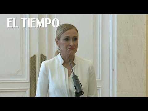 Presidenta de Madrid renuncia tras video que la muestra robando    EL TIEMPO