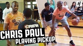 CHRIS PAUL SURPRISES KIDS & PLAYS PICKUP! | CP3's 'Go Hoop Day'