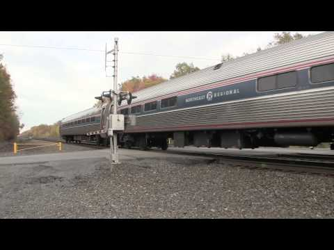 Amtrak Pennsylvanian train 43 07T Carneys Crossing Rd, Cresson, PA 10 11 14