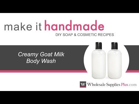 How to Make Creamy Goat Milk Body Wash {Make It Handmade} - YouTube