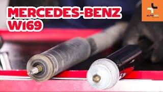 Montavimo gale Amortizatorius MERCEDES-BENZ A-CLASS: vaizdo pamokomis