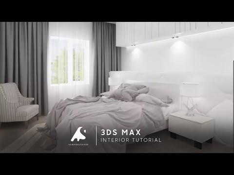 3Ds Max BEDROOM Interior Design Tutorial Modeling Vray Photoshop