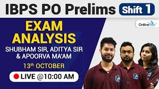 IBPS PO Prelims 2018: Shift 1 | Live Analysis