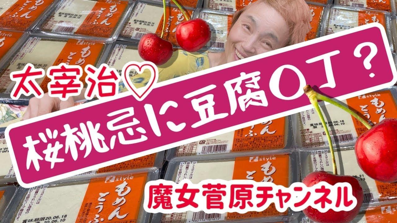 【大食い】桜桃忌に豆腐○丁?【桜桃忌】