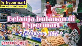 BELANJA BULANAN DI HYPERMART || banyak promonya Februari 2021 !! || Grocery haul with me 🍒