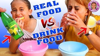 REAL FOOD VS. DRINK FOOD - Mama vs Tochter - Mileys Welt