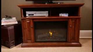 Chimneyfree Claremont Electric Fireplace Entertainment Center In Mahogany | 26mm1904-m318