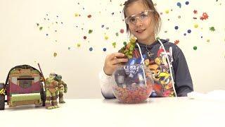 Видео с игрушками Черепашки Ниндзя. Готовим эликсир молодости