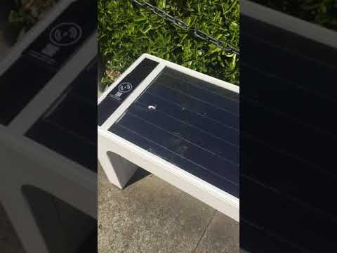 Solar Seat with Mobile charger. Bright Idea #shorts
