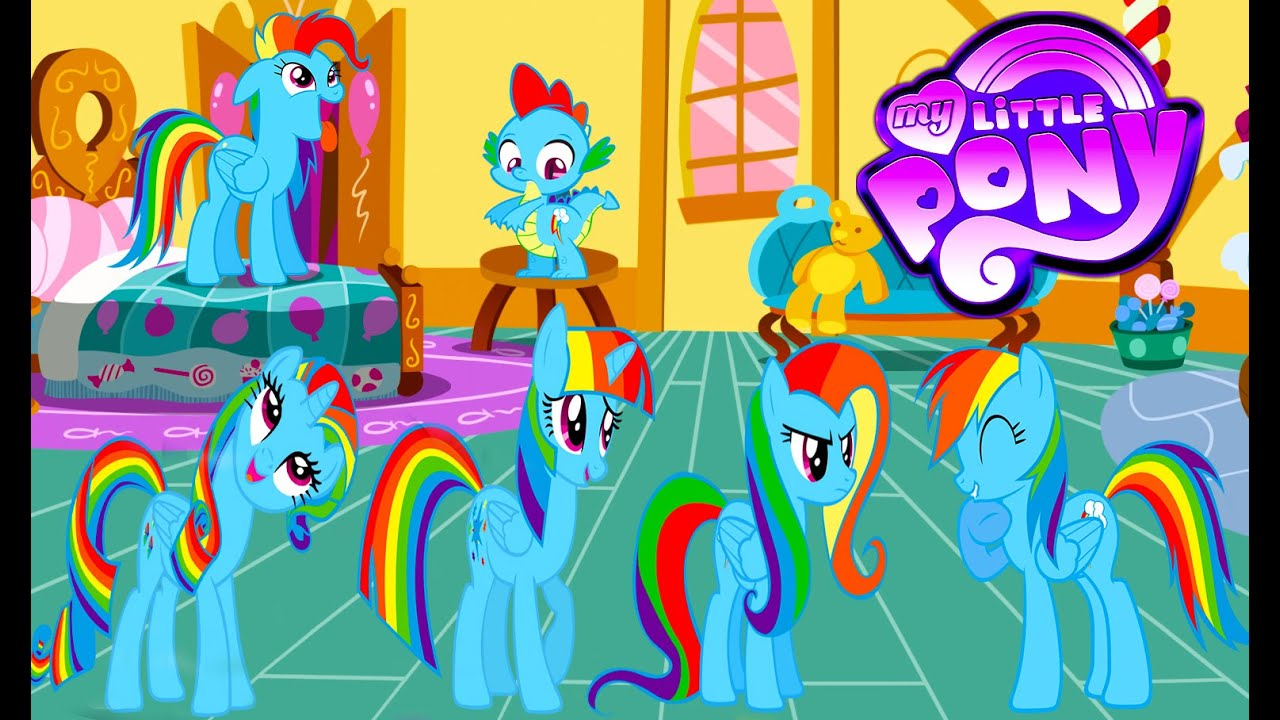 My Little Pony Mane 6  Spike Transforms  Rainbow Dash Color Swap