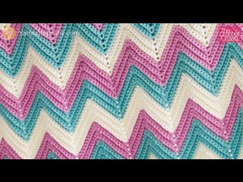Left Hand Zig Zag Baby Crochet Blanket Youtube