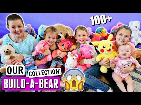 GIVING AWAY OUR HUGE BUILD A BEAR COLLECTION!