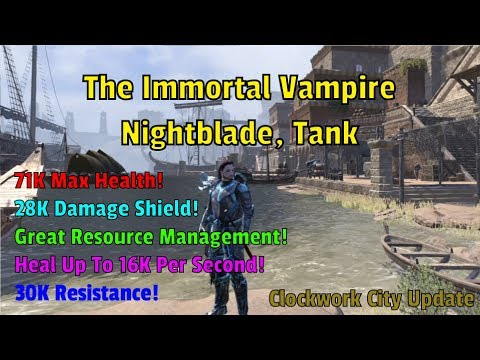 ESO Builds: The Immortal Vampire / Nightblade Vampire Tank - Clockwork City Update