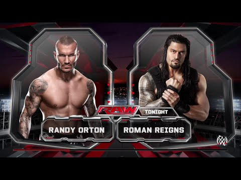 WWE 2K15- Roman Reigns vs Randy Orton Normal Match at RAW 2015 (PS4)