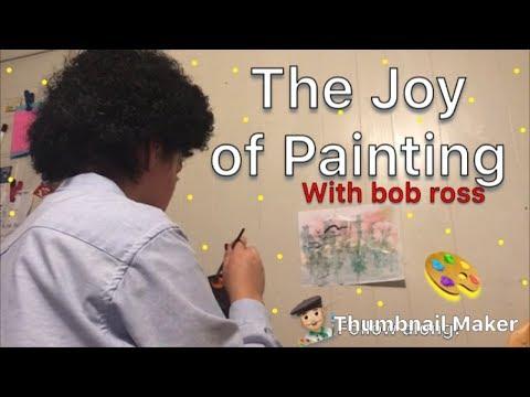"Bob Ross ""The Joy of Painting"" E happy paintings 😊"