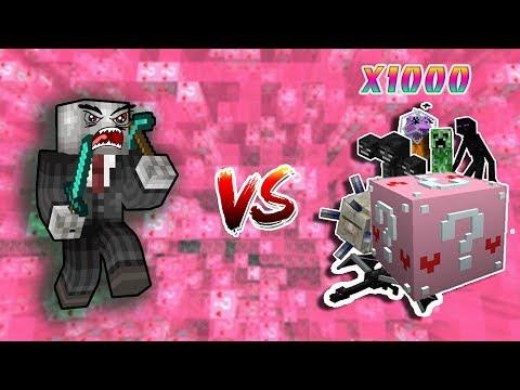THỬ ĐẬP 1000 LUCKY BLOCK MÀU HỒNG SIÊU KHÓ TRONG MCPE | Thử Thách SlenderMan | Minecraft PE 1.2