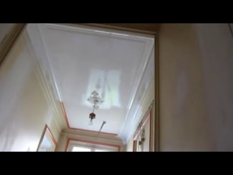 travaux peinture renovation conomique plafond repeint r non rafraichis pistolet youtube. Black Bedroom Furniture Sets. Home Design Ideas
