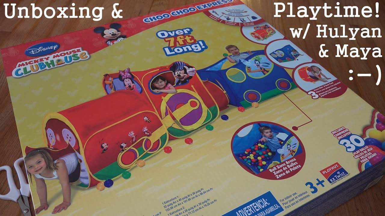 Trains Disneyu0027s Mickey Mouse Clubhouse Choo Choo Express Train Unboxing - YouTube  sc 1 st  YouTube : mickey play tent - memphite.com