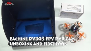 Eachine DVR03 FPV Camera with built in DVR unboxing and first look