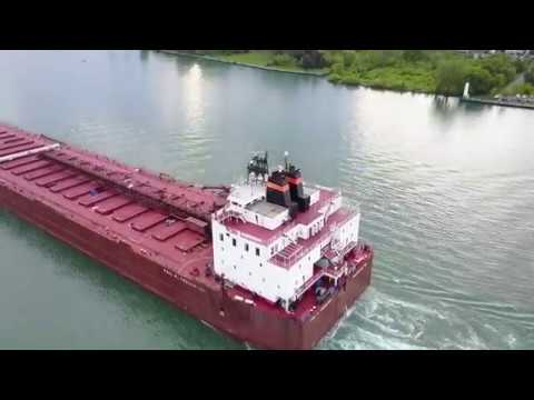Paul R  Tregurtha - Great Lakes Freighter Flyover 5 26 17