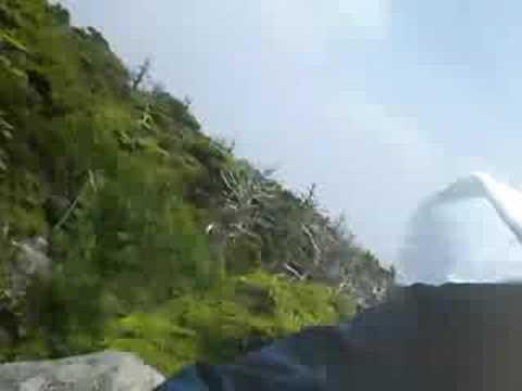 山登り009 岩手五葉山03山頂の岩登り1