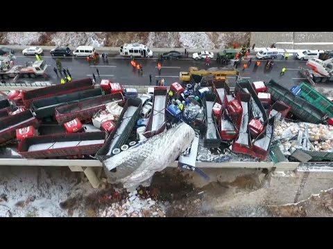 Survivor Recalls Moments Before Highway Pileup in Shanxi