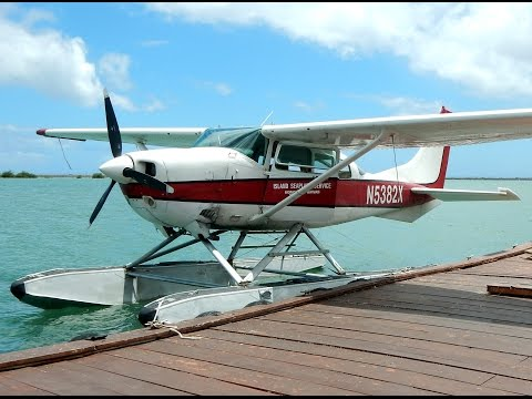 GoPro Cessna 206 Seaplane in Hawaii Cockpit Video - Takeoff/Landing