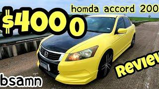 Honda accord 2008 reviews B samn