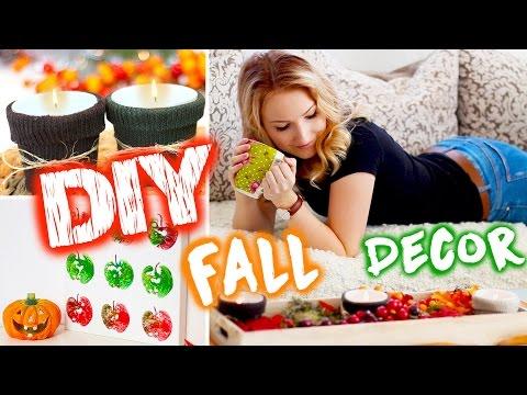 EASY DIY FALL ROOM DECOR - Socken Teelichter, Apfel Bild uvm - TheBeauty2go