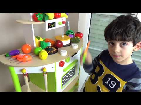 Learn Fruits and Vegetables For Children, Toddlers and Babies | Velcro Toy Cutting for Kids