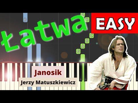 🎹 Janosik (motyw główny, Jerzy Matuszkiewicz) - Piano Tutorial (łatwa wersja) 🎹
