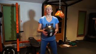 weights dumbells, bar and medicine ball