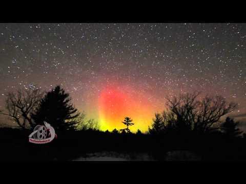 Aurora Borealis (Northern Lights) Land O Lakes Region, Ontario, Canada