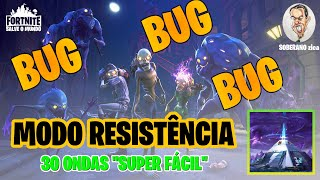 TESTING NEW BUG RESISTANCE MODE 30 WAVES-Fortnite Save the World
