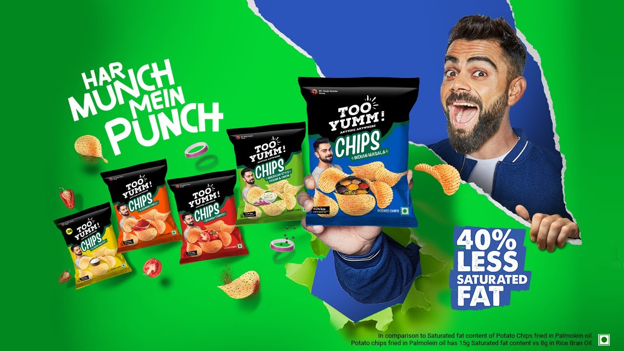 Too Yumm! Potato Chips #MasalaIdharHai #TooYummPotatoChips #ViratKohli