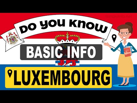 Do You Know Luxembourg Basic Information | World Countries Information #104 - GK & Quizzes