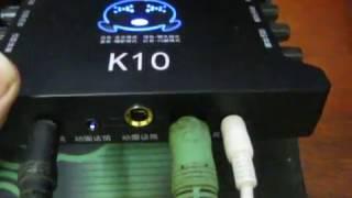 Hướng dẫn hát online trên điện thoại bằng sound card XOX K10
