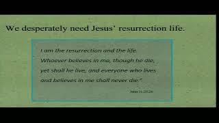 The Resurrection Antidote